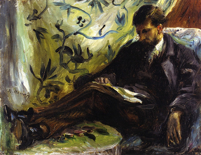 Огюст Ренуар. Портрет Эдмона Мэтра (Чтец). 1871...