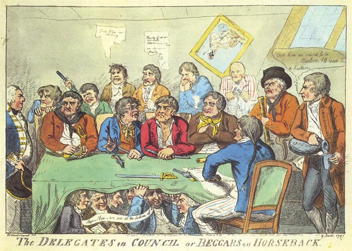 Делегаты вСовете. Карикатура. 1797год