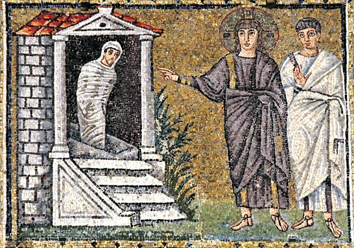 Воскрешение Лазаря. Византийский мастер. Моза...