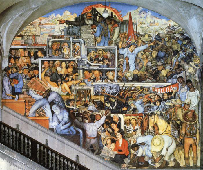 Диего Ривера. «История Мексики: отзавоева...