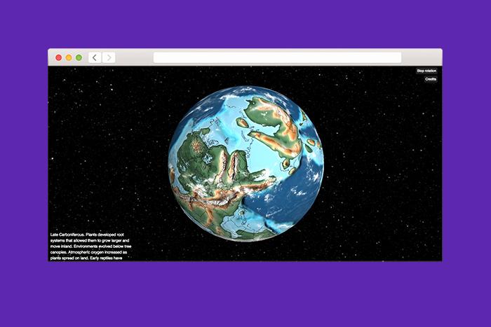 Находка T&P: интерактивный глобус, на котором можно посмотреть, где бы вы жили 750 миллионов лет назад