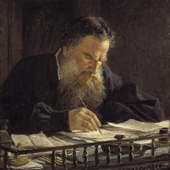Портрет Льва Николаевича Толстого (фрагмент). Н...