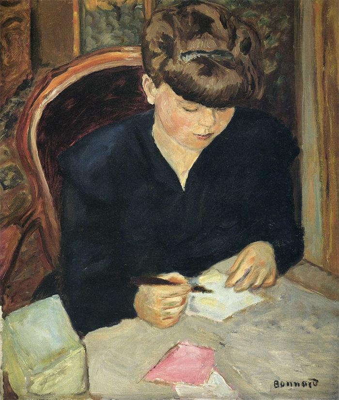 Письмо. Пьер Боннар. Около1908года