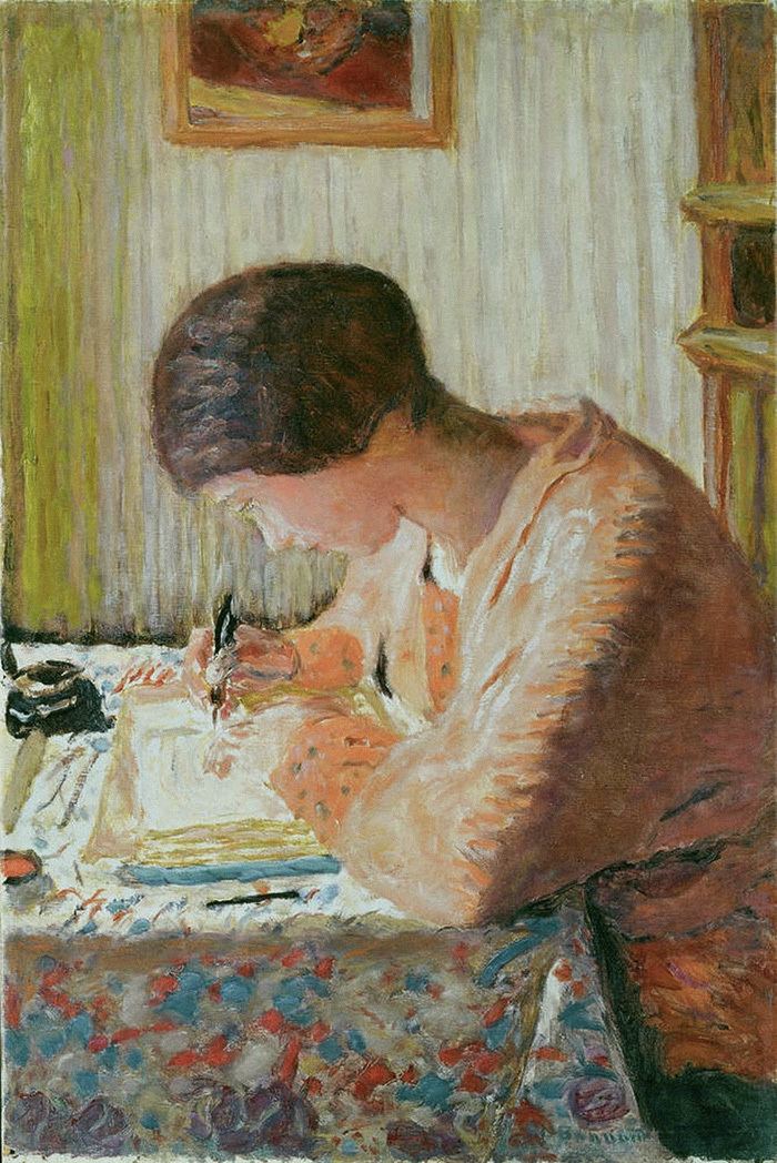 Пишущая женщина. Пьер Боннар. 1920год