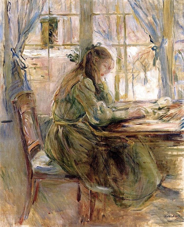 Пишущая. Берта Моризо. 1891год
