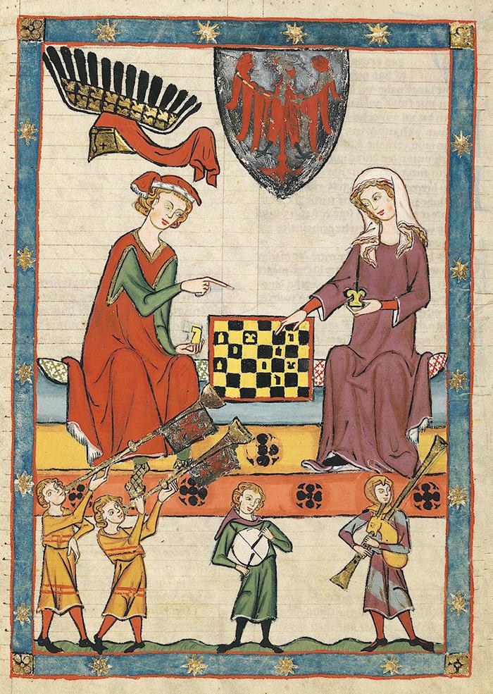 Женщина играет вшахматы скоролем Ге...