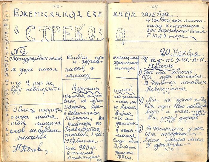 Черновик стенгазеты издневника Василия Ма...
