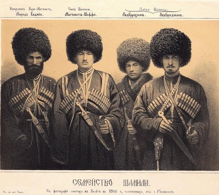 Сыновья имама Шамиля. Василий Тимм. 1859год