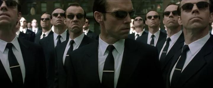 Кадр изфильма «Матрица». 1999год