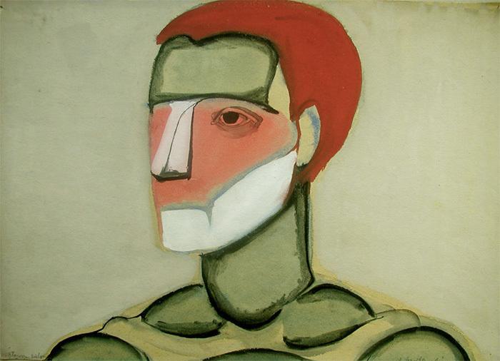 Зеленая голова. Анджей Вроблевский. 1956год