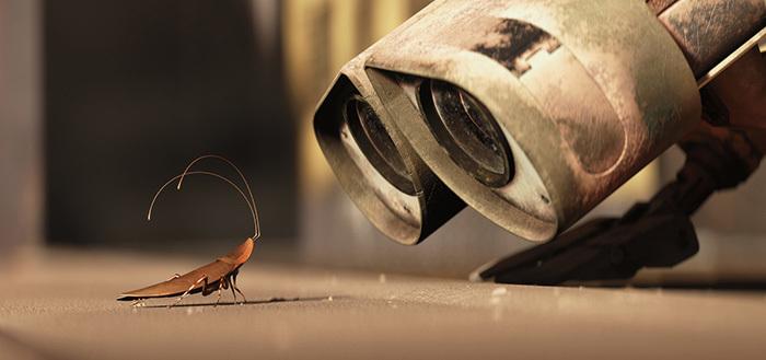 Кадр измультфильма «ВАЛЛ-И». 2008год