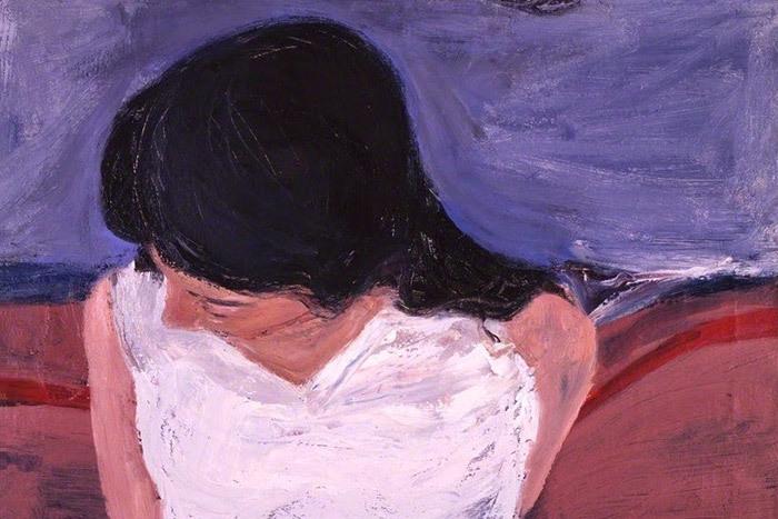 Девушка вбелой блузе (фрагмент). Ричард Д...
