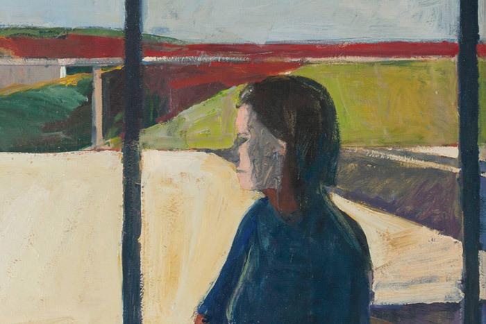 Женщина впрофиль (фрагмент). Ричард Дибен...