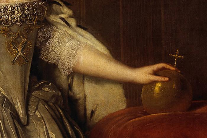 Портрет императрицы Анны Иоанновны (фрагмент). ...