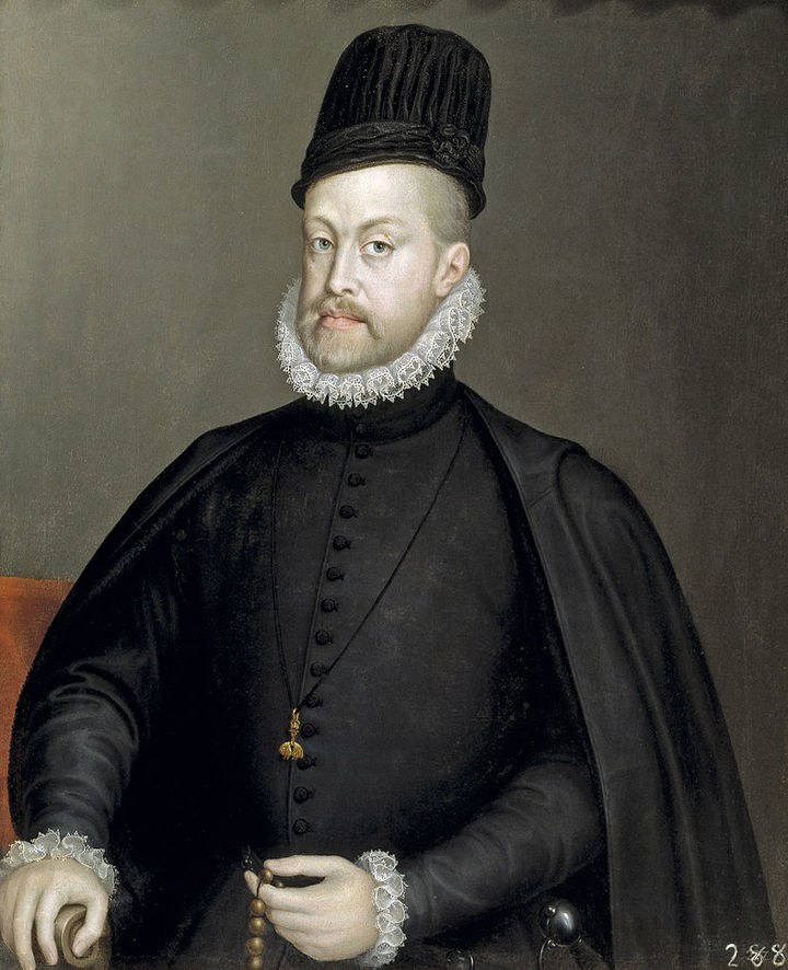 Портрет Филиппа II, короля Испании. Софонисба А...