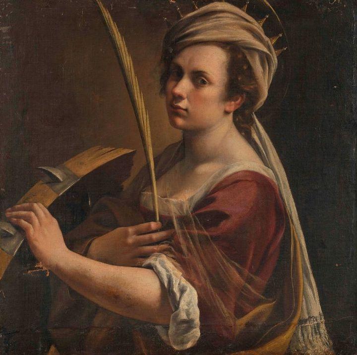 Автопортрет вобразе святой Екатерины. Арт...