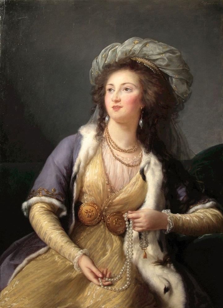 Графиня Клермон-Тоннер вобразе султанши. ...