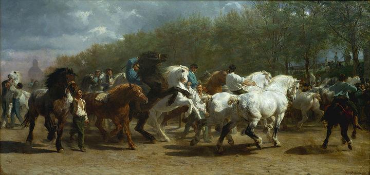 Ярмарка лошадей 1835года. Роза Бонер. 185...