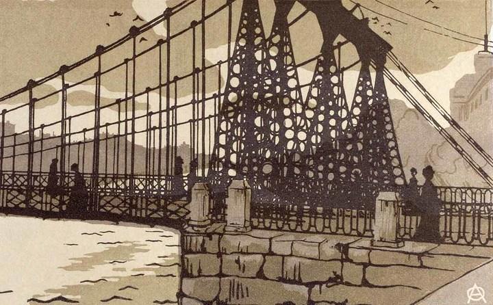 Цепной мост. Анна Остроумова-Лебедева. 1903&nbs...