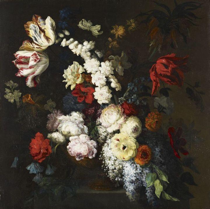 Ваза сцветами. Мэри Мозер. 1797год
