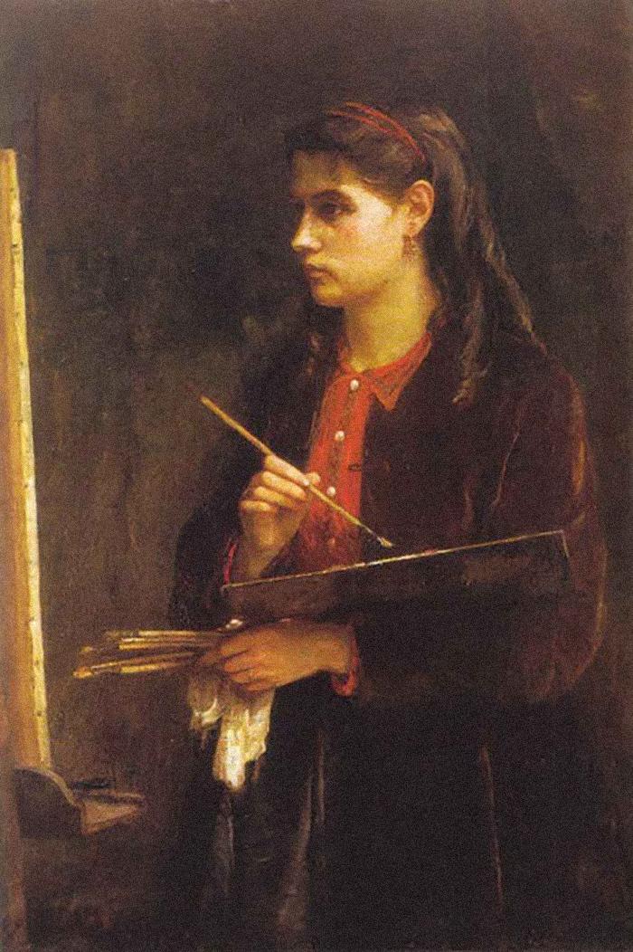 Портрет Берты Моризо. Эдма Моризо. 1865год