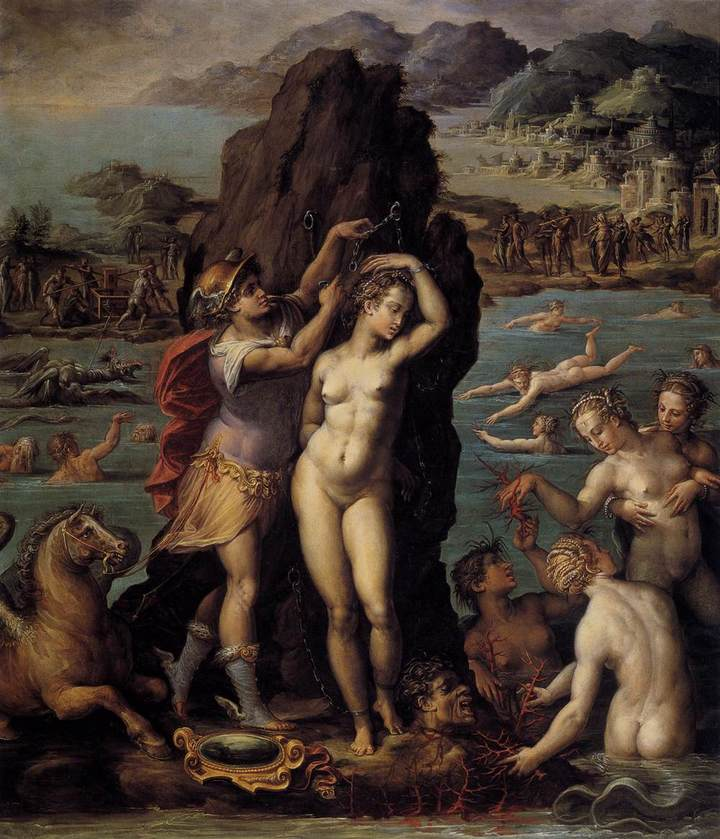 Персей иАндромеда. Вазари. 1572год