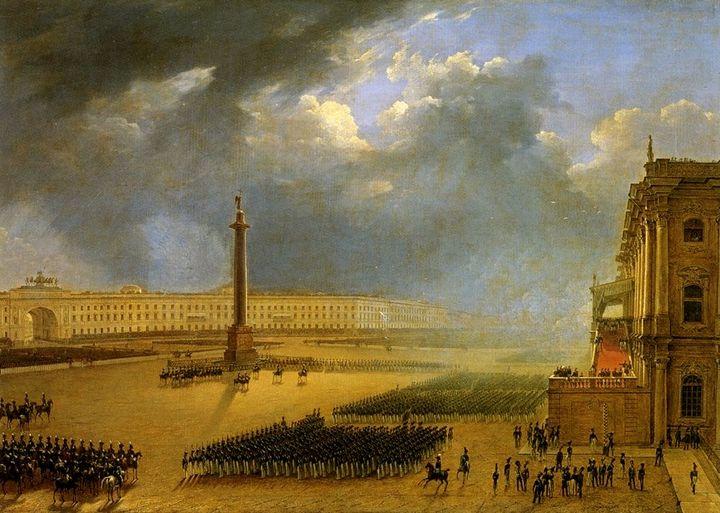 Парад. Григорий Чернецов.1834год