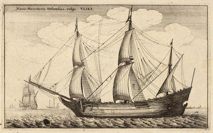 Голландский флейт. XVII век