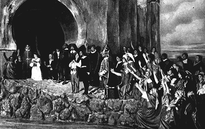 Иллюстрация насюжет оперы «Фиделио». 1917...