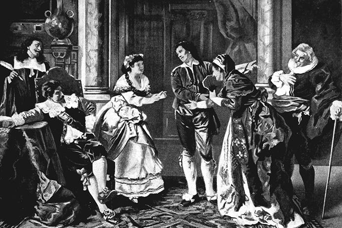 Иллюстрация насюжет оперы «Женитьба Фигар...