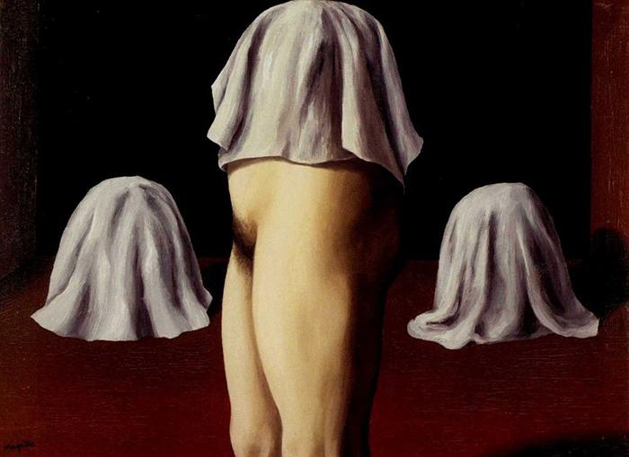 Симметричный фокус. Рене Магритт. 1928год