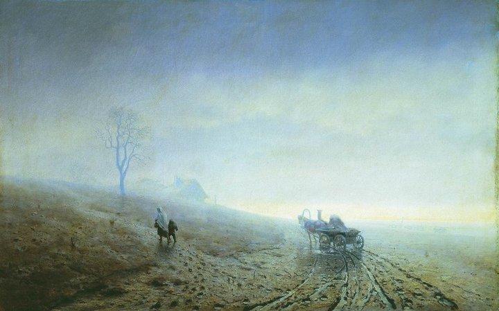 Осенняя распутица. Архип Куинджи. 1870год