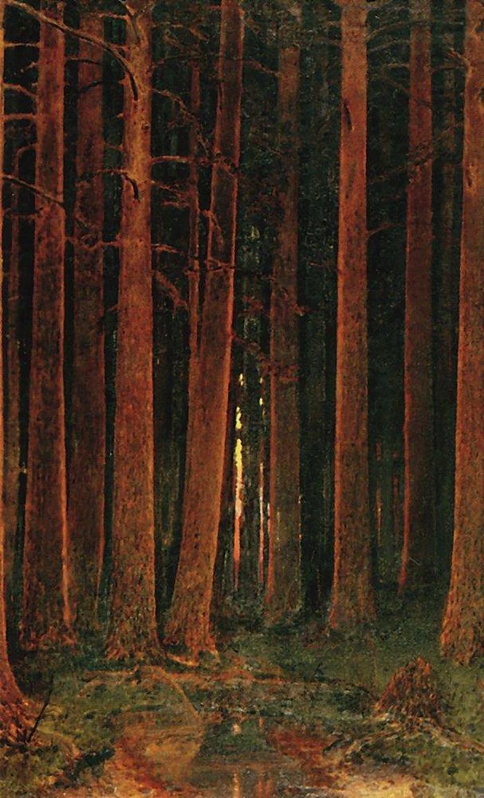 Закат солнца влесу. Архип Куинджи. 1878&n...