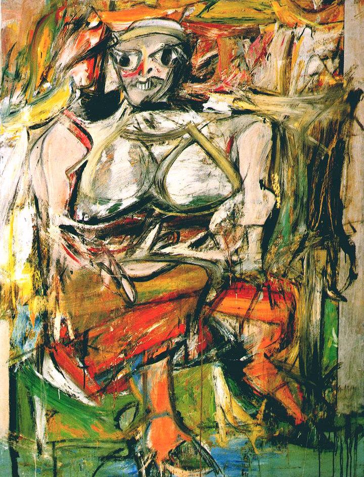 Женщина I. Виллем де Кунинг. 1950-52год