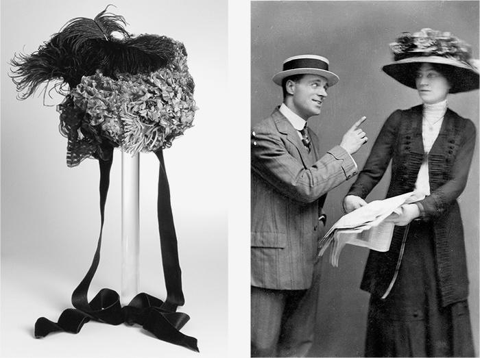 Слева: «Кукольная» шляпка. Louise and Company. ...