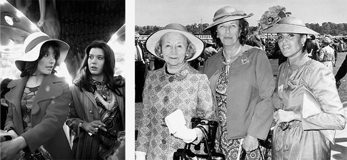 Слева: Широкополая шляпа. Ок. 1975 Справа: Шляп...