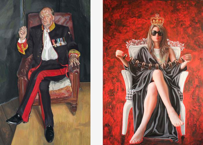Слева: Портрет Эндрю Паркера Боулза. Люсьен Фре...