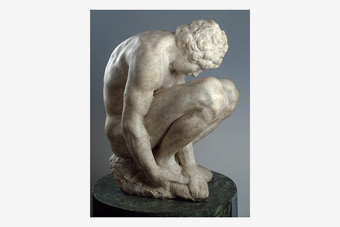 Скорчившийся мальчик. Микеланджело Буанороти. О...