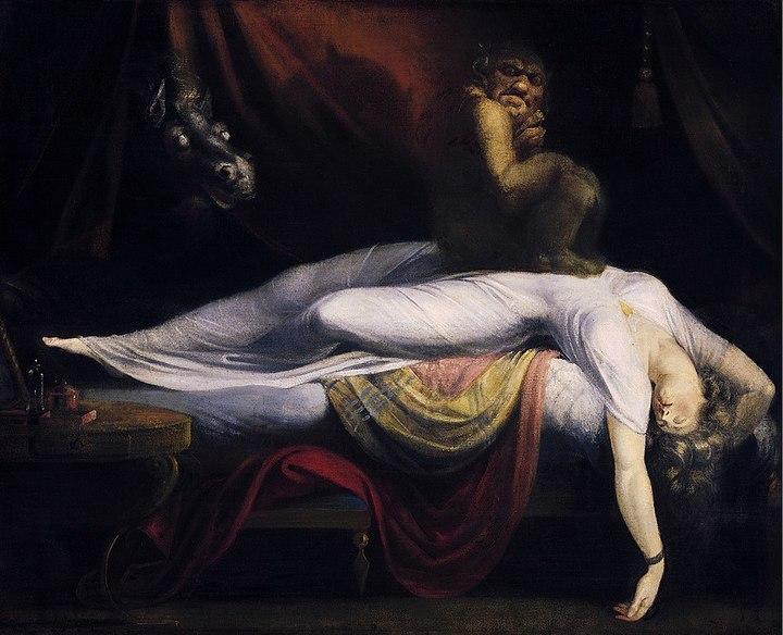 Ночной кошмар. Иоганн Генрих Фюссли. 1781год