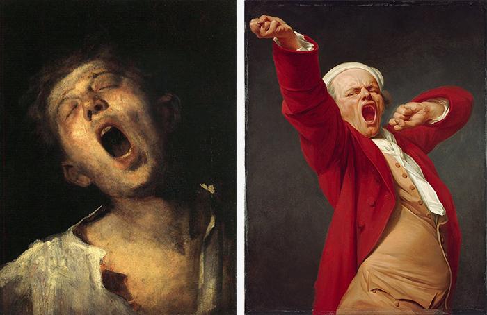 Слева: Зевающий подмастерье. Михай Мункачи. 186...