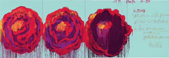 Сай Твомбли. Роза (IV). 2008. Дерево, акрил