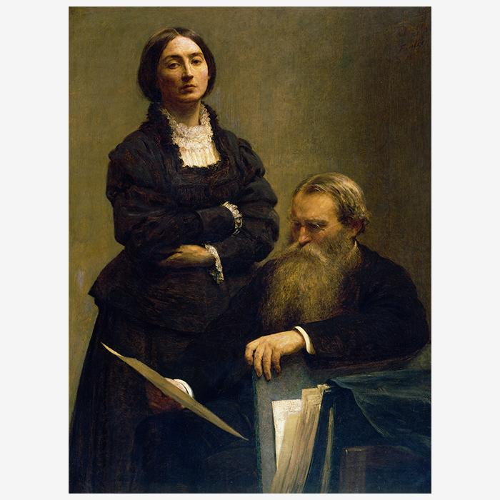Портрет супругов Эдвардс. Анри Фантен-Латур. 18...