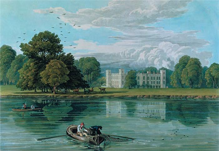 Вид Сайон-хауса, начало XIXв.; живописный...
