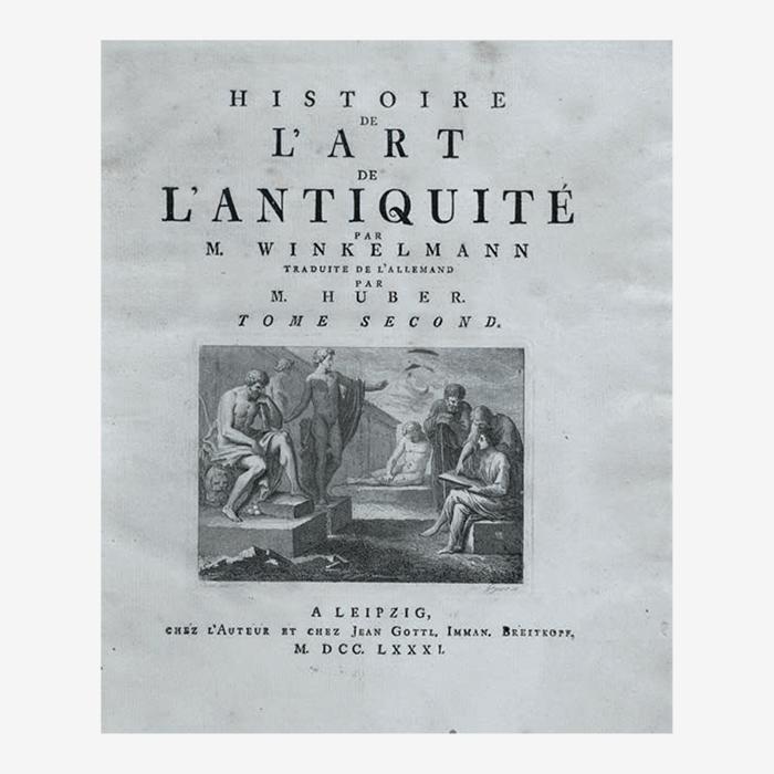 Фронтиспис «Истории античного искусства» Винкел...