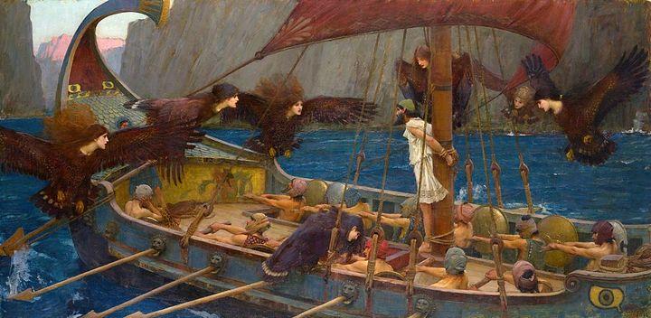 Одиссей исирены. Джон Уилльям Уотерхаус.&...