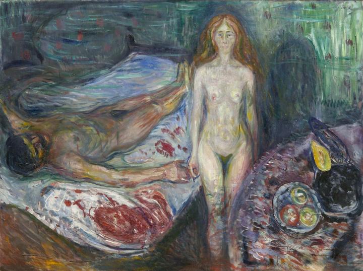 Эдвард Мунк «Смерть Марата» (1907г.)