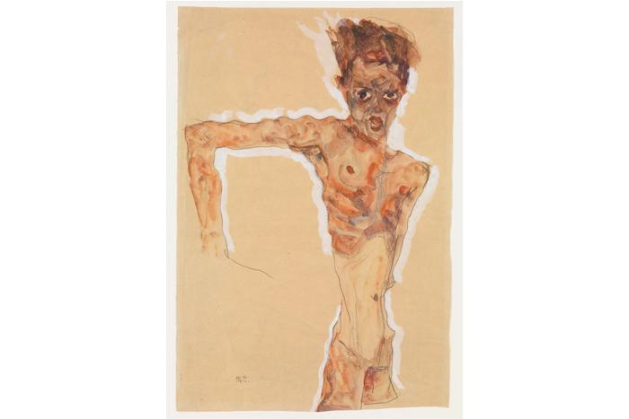 Эгон Шиле «Автопортрет» (1911г.)