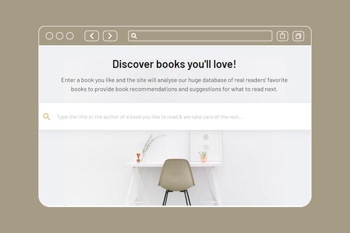 Сайт, который рекомендует книги