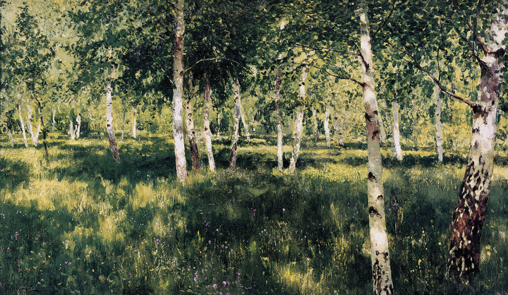 Исаак Левитан, «Березовая роща» (1889г.)