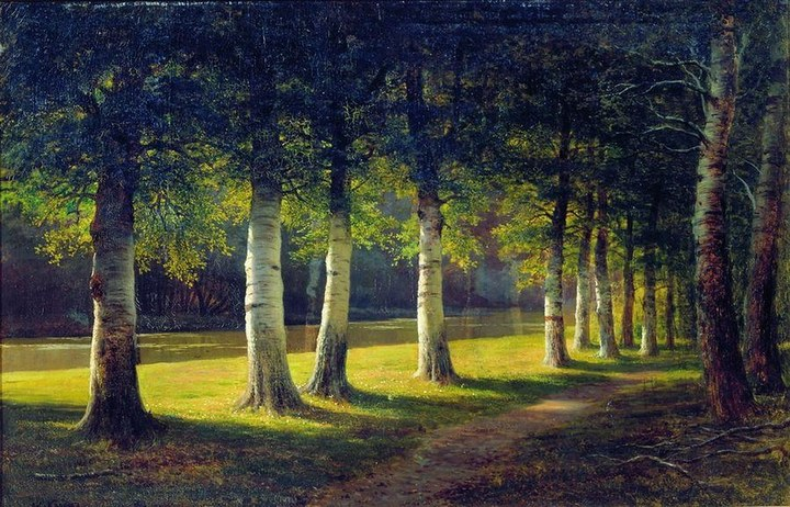 Михаил Клодт, «Березовая аллея» (1890-е гг.)
